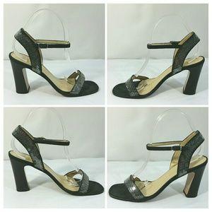 Bottega Veneta Black Strappy Suede Sequin Shoes